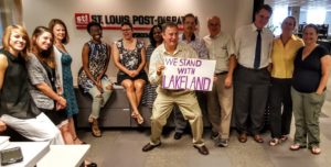 Post-Dispatch journalists supported the Lakeland campaign.