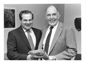 Robert Steinke (right) retired in 1998 and was replaced by Herb Goodrick (left)